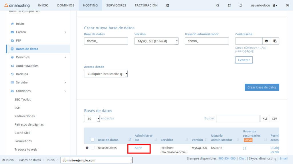Exportar Base de datos phpMyAdmin