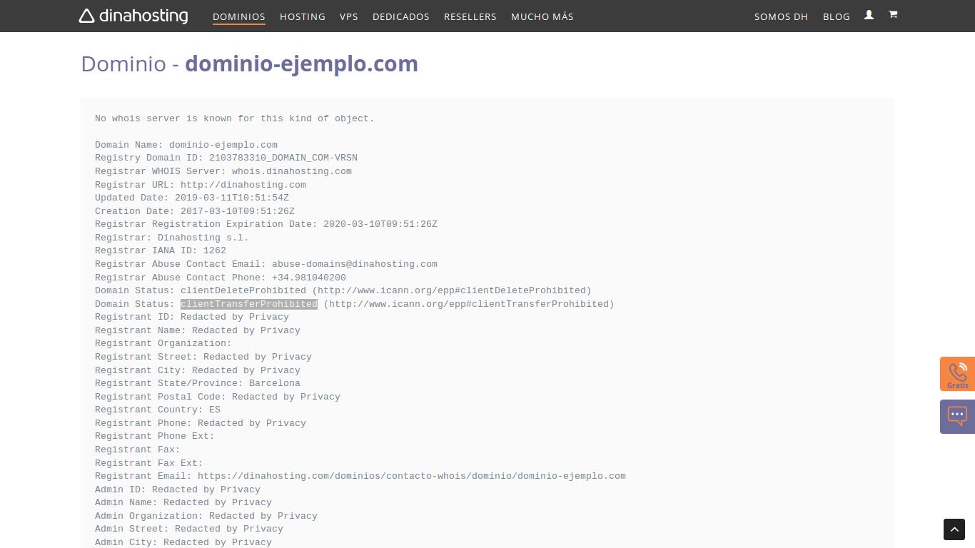 dominio bloqueado