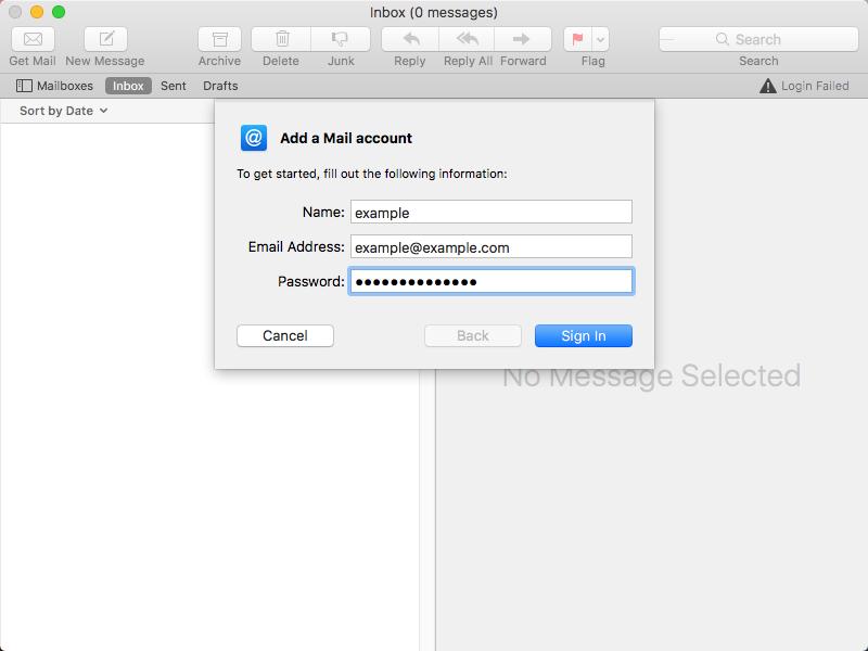 configurar cuenta de correo MAC
