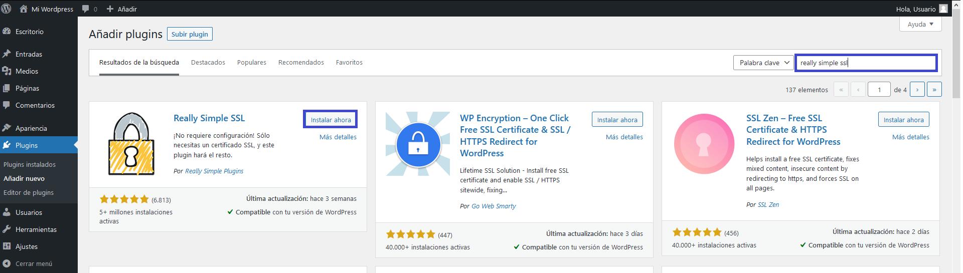 Forzar https Really simple SSL