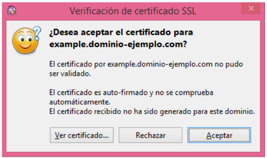 Advertencia certificado