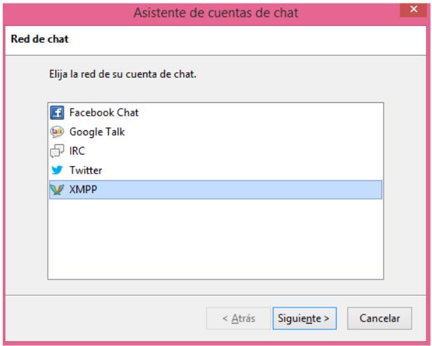 Configurar chat en cuenta de correo