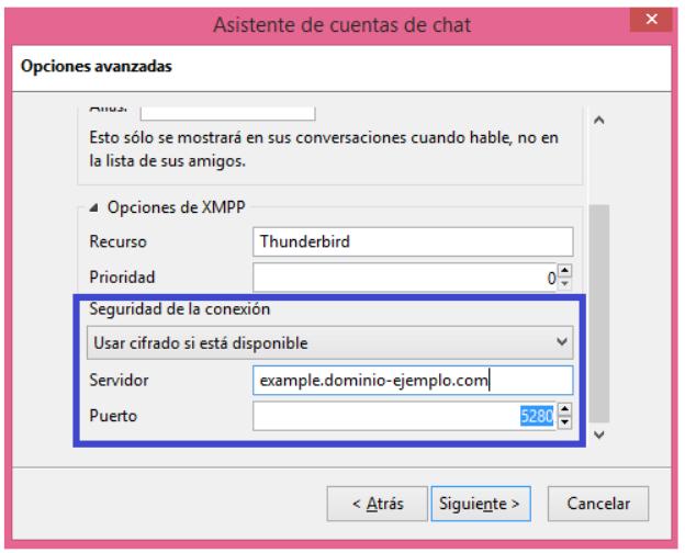 Configurando chat