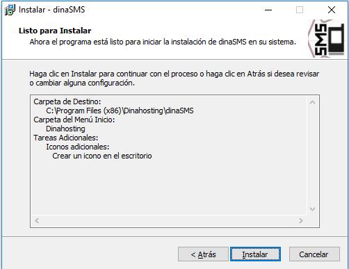 Instalación de DinaSMS en Windows