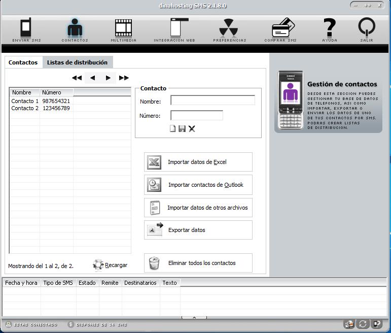 Uso de DinaSMS en Windows