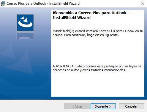 Instalación de complemento Correo Plus para Outlook