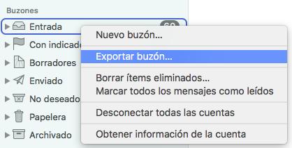 backup correos local en mac
