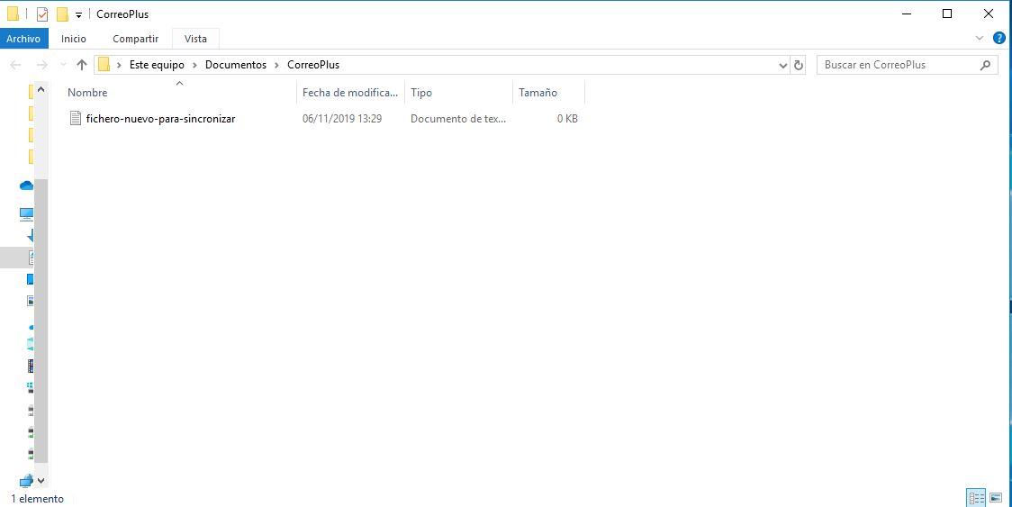sincronizar archivos en Windows