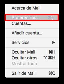 límite conexiones imap en Mail de Mac