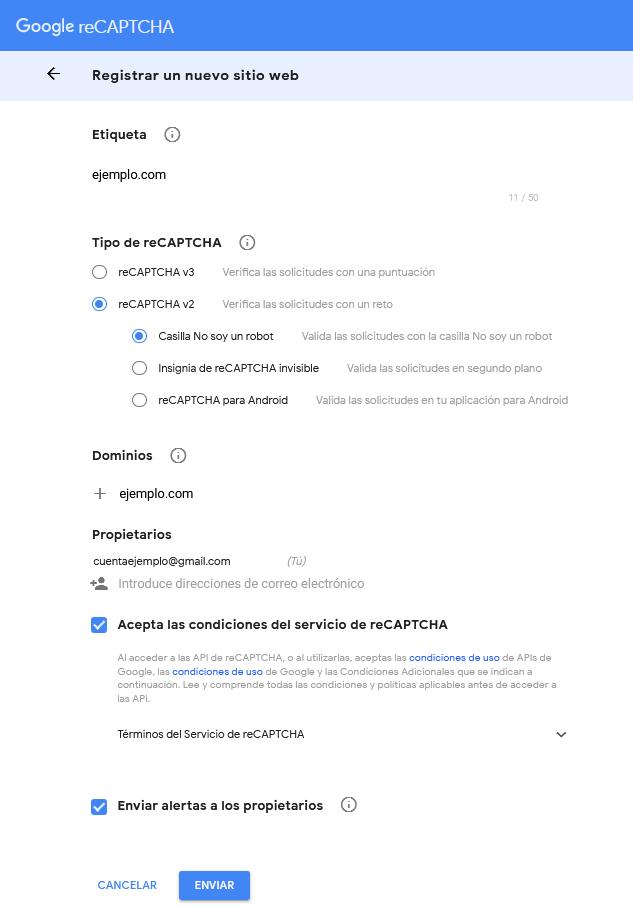 Google reCAPTCHA v2