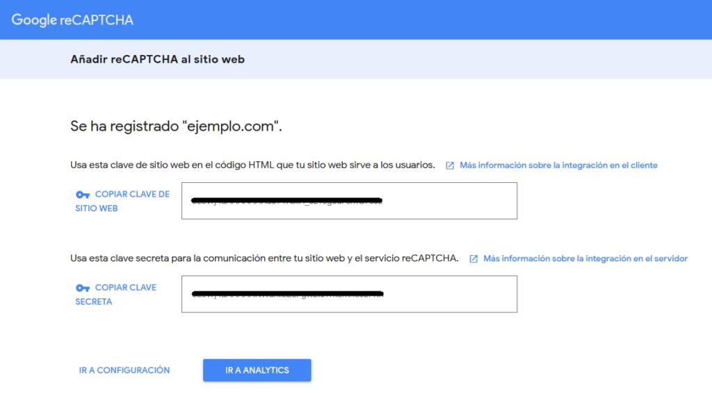 Añadir reCAPTCHA al sitio web