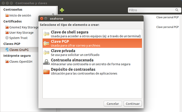 Usar PGPen Linux