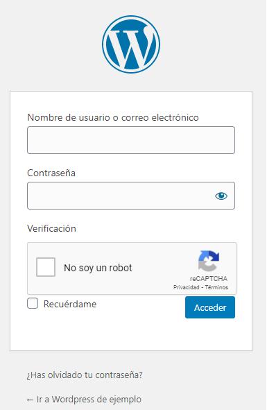 Casilla de verificación de Google ReCAPTCHA en WordPress