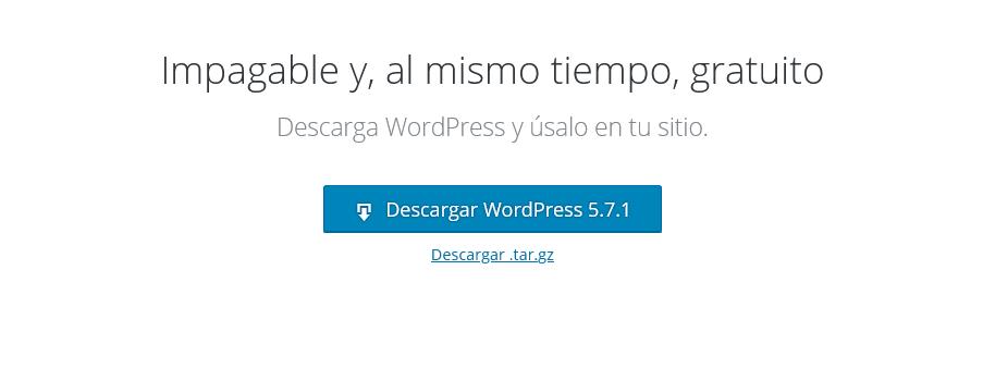 Descarga WordPress