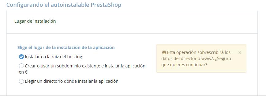 Configuración PrestaShop