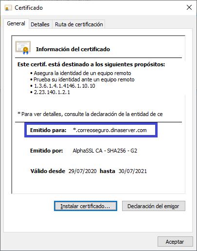 certificado seguro