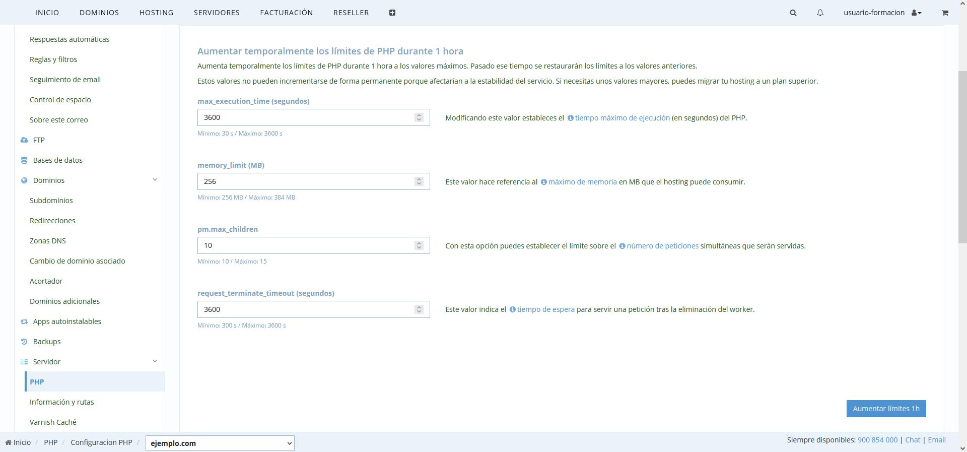Aumentar memoria PHP pantalla en blanco en WordPress