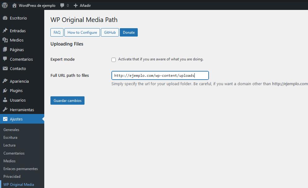 Ruta WordPress plugin