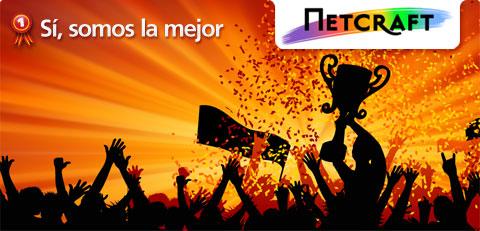 Celebando victoria y logotipo Netcraft