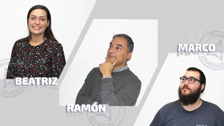 Entrevistas a dinawokers: Beatriz, Ramón e Marco