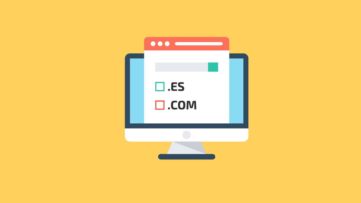 Registrar dominio .ES o .COM en dinahosting