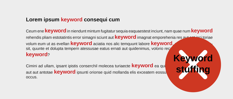 Esquema Keyword Stuffing