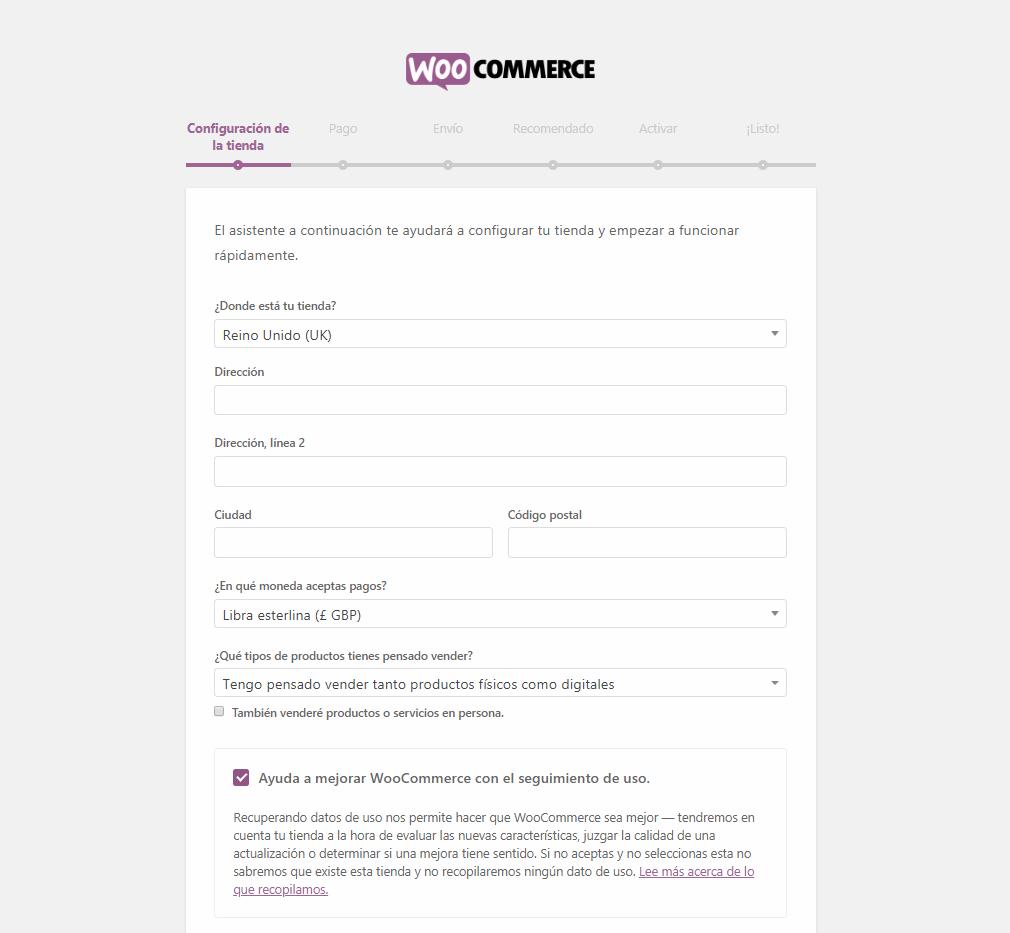 Cómo funciona el Asistente de Configuración de WooCommerce