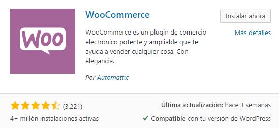 Instalar plugin WooCommerce