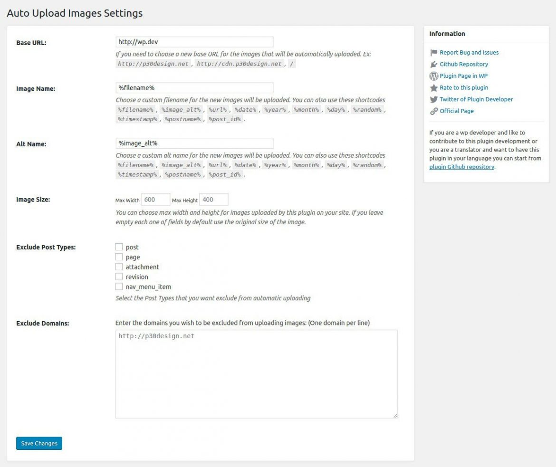 Captura Plugin Auto Upload Images