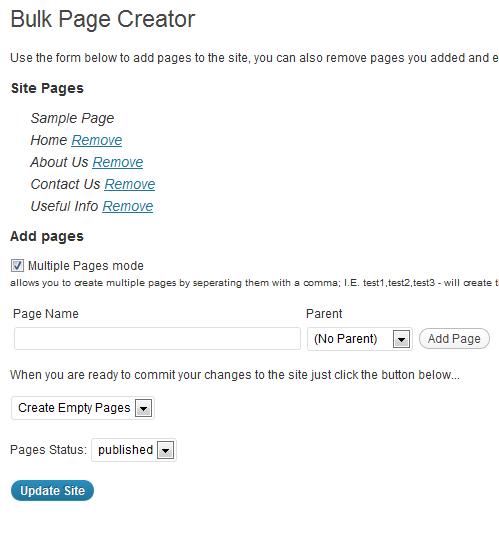 Captura Plugin Bulk Page Creator