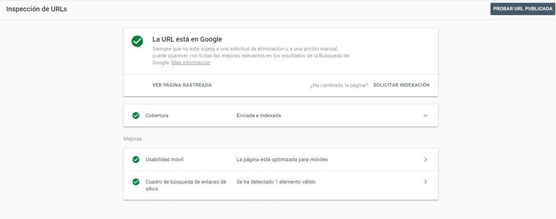 Google Search Console URL