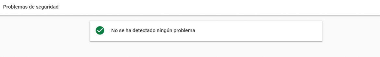 Problemas de seguridad Search Console