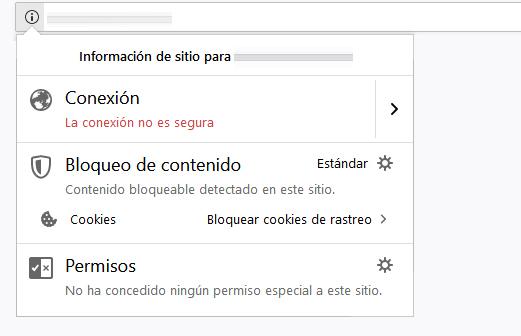 Firefox - sitio no seguro