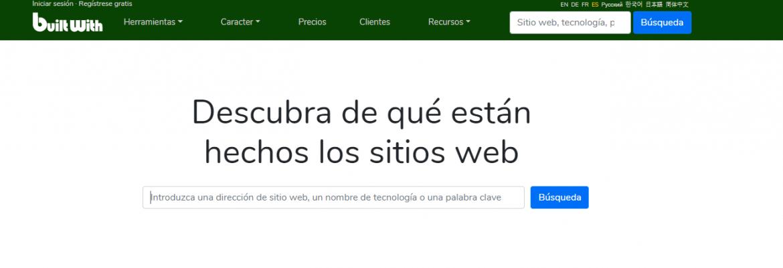 Analizar CMS que utiliza una web - Builtwith
