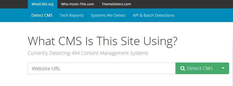 Analizar CMS que utiliza una web - WhatCMS