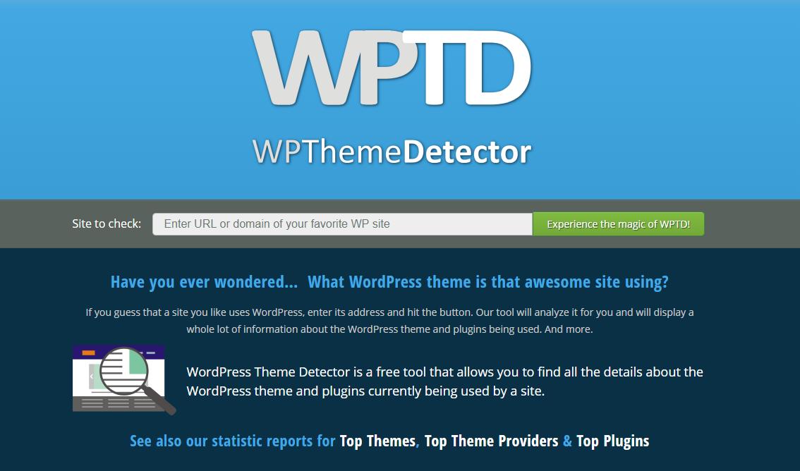 Analizar tema que utiliza un WordPress - WP THeme Detector