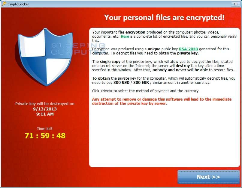 Ejemplo de ataque de Ransomware | Qué es el Ransomware | dinahosting