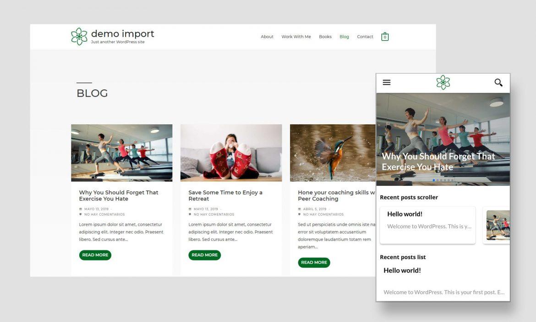 Imagen de web y app para móviles