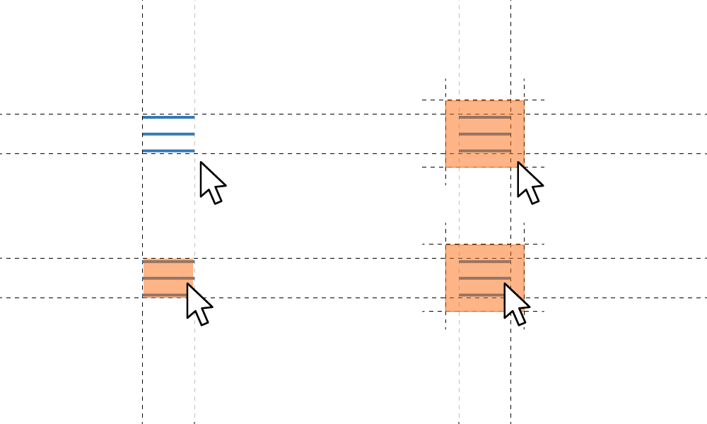 Ejemplo de área de click
