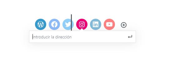 Bloque de iconos sociales en WordPress 5.4