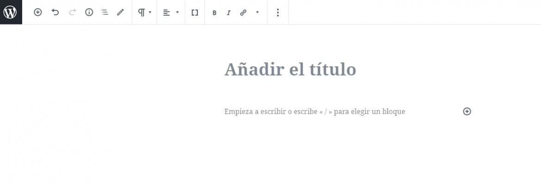 Modo a pantalla completa en WordPress 5.4