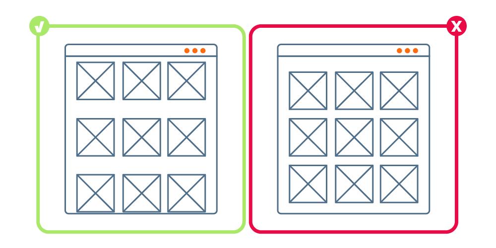 Creación de grupos a través del espacio negativo o White Space | dinahosting