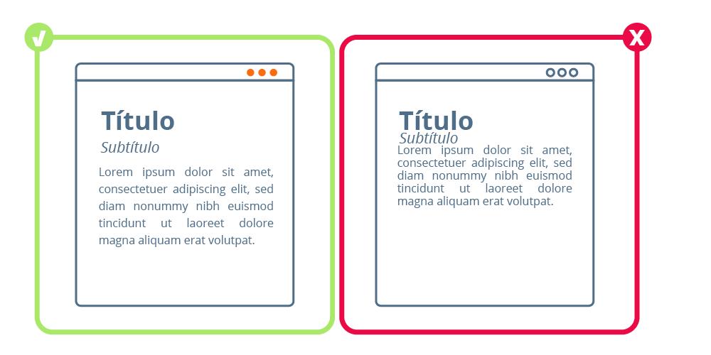 Ejemplo de mejora de la legibilidad a través del espacio negativo o White Space | dinahosting