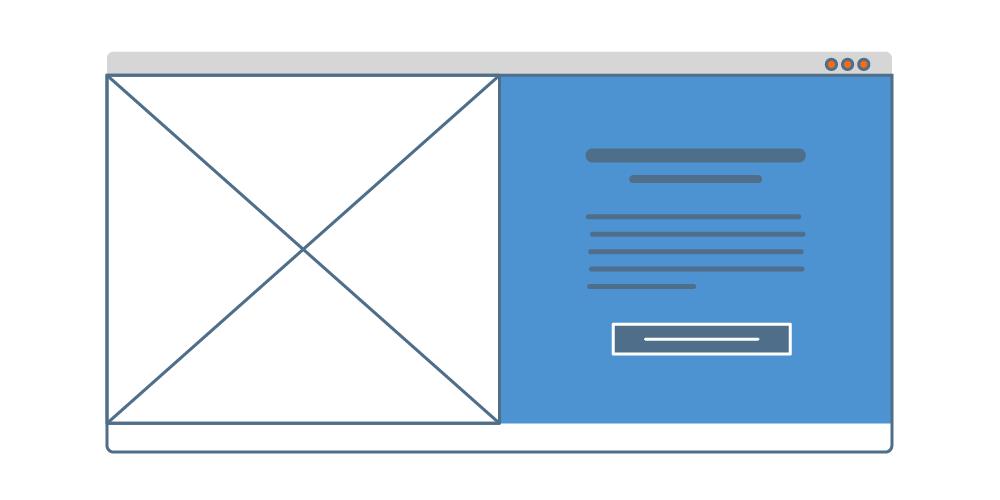 Ejemplo de diseño de layout de pantalla partida