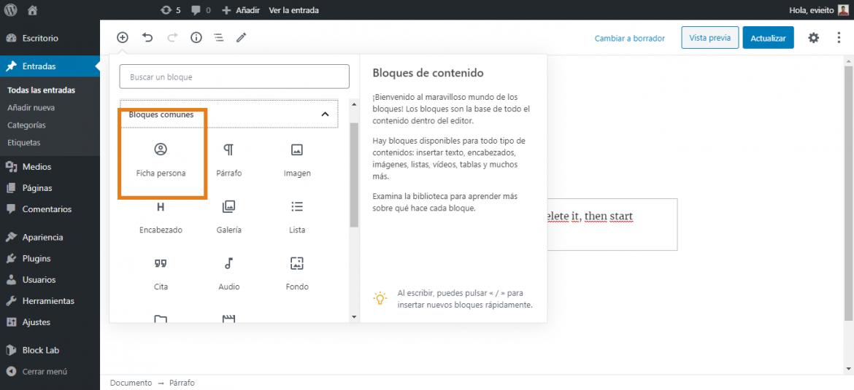 Ejemplo de bloques personalizados en Gutenberg (WordPress)   dinahosting