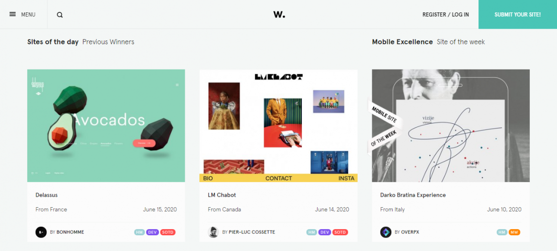 Páginas para buscar inspiración en diseño web | dinahosting