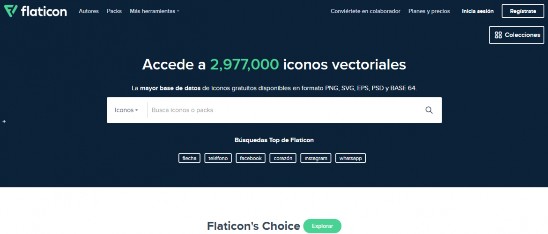 Recursos gratis en diseño web: Flaticon