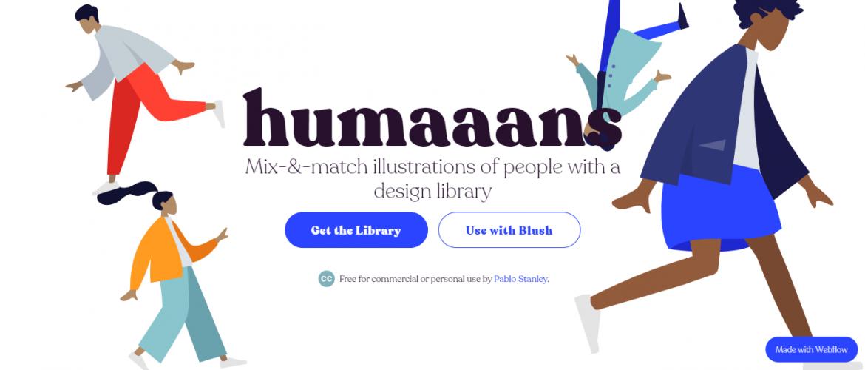 Recursos gratis en diseño web: Humaans