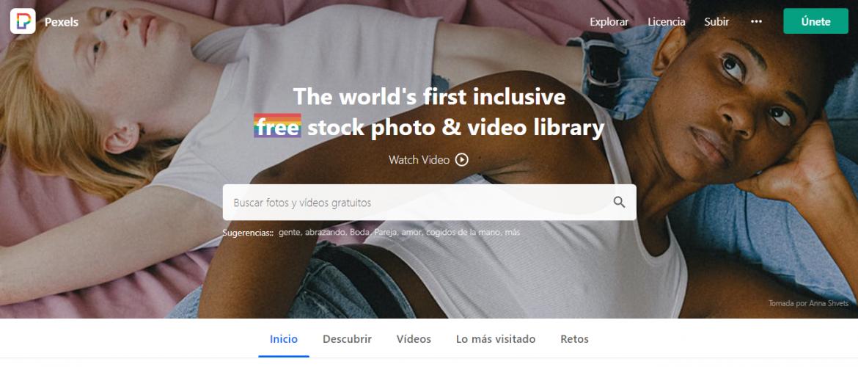 Recursos gratis en diseño web: Pexels