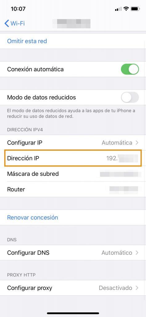Cómo averiguar la dirección IP en Iphone